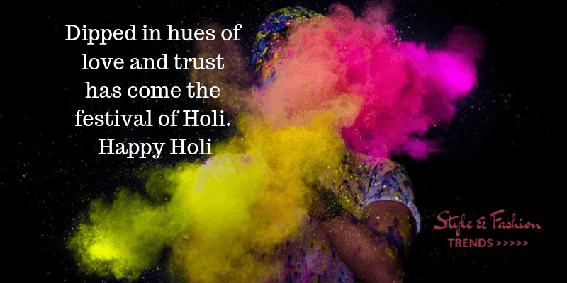 Wishes a Happy HOLI!