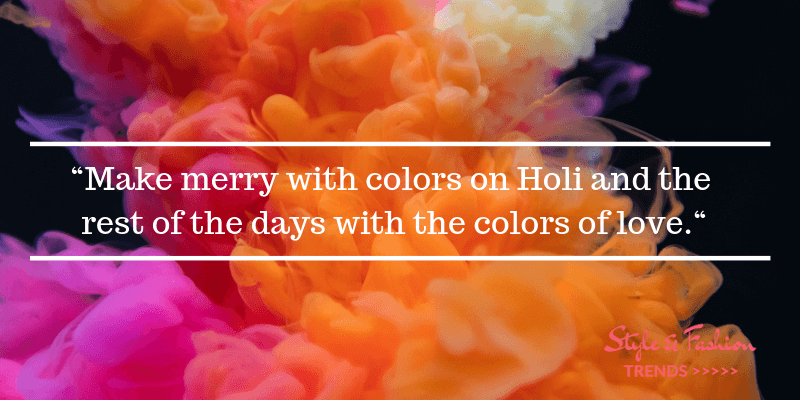 Holi Celebration Ideas