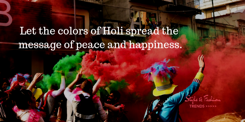 holi spread happiness