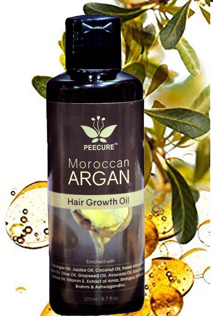 PEECURE Moroccan Argan Hair Fall Treatment Growth Oil