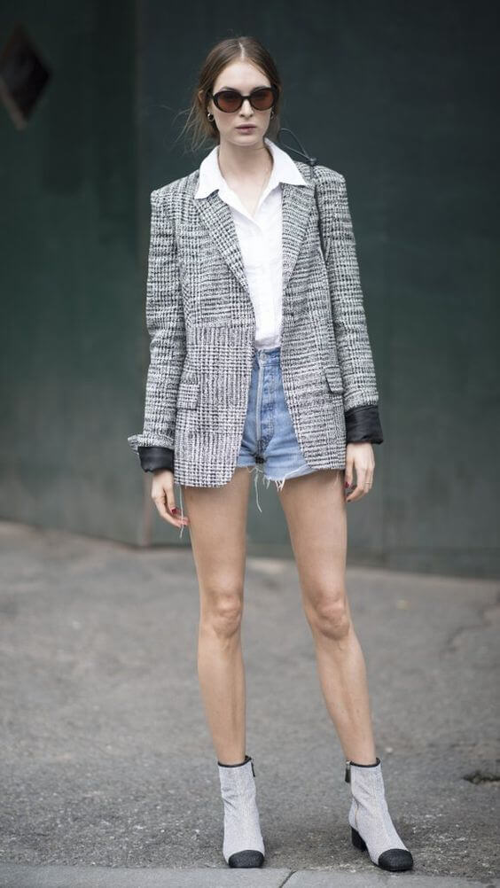 Wear a blazer over Your Shorts